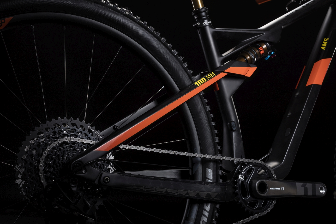 8709d83f8f8 The 2019 CUBE AMS 100 C:68 TM 29, has blended the race-ready performance of  our AMS 100 platform with trail-ready components like a 120mm travel Fox 34  fork ...